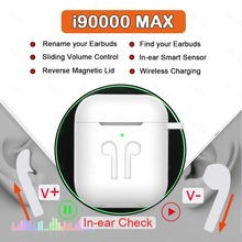 i90000 MAX TWS Wireless Earphone With Air 2 Rename Bluetooth 5.0 Earphone Super Bass Earbud