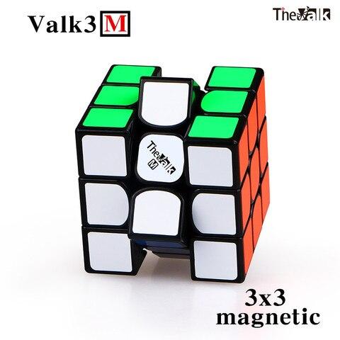 nova qiyi valk3 m 3x3x3 cubo de velocidade magica magnetica valk 3 m stickerless profissional