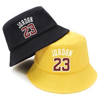 Summer Bucket Hats Jordan 23 Print Foldable Fisherman Hat Woman Soft Beach Sun Cap Man Fashion Soild Panama