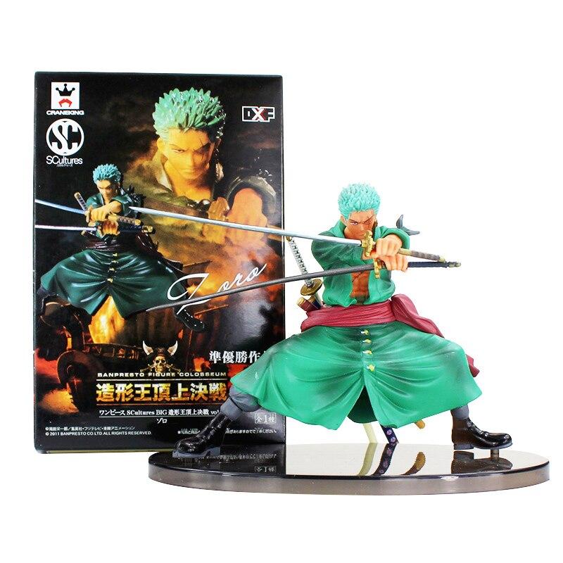 No Box Japan Anime Manga One Piece Roronoa Zoro Figure Statue 16cm Battle Ver