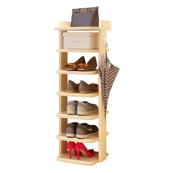 Vertical Wooden Shoe Rack Behind Door Shoes Storage Shelf Space Saving Shoe Organizer Rack Home Hallway Furniture Shoe Cabinet practical wooden shoe cabinet closet storage rack pu seat bench entryway hallway black