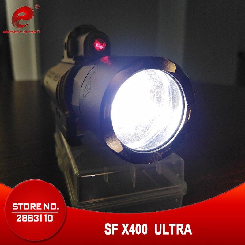 Element SF X400 CREE Ultra High Ouput LED Pistol M4 Rifle Flashlight Red Dot Laser Combo Sight 20mm Picatinny Rail Mount EX 367