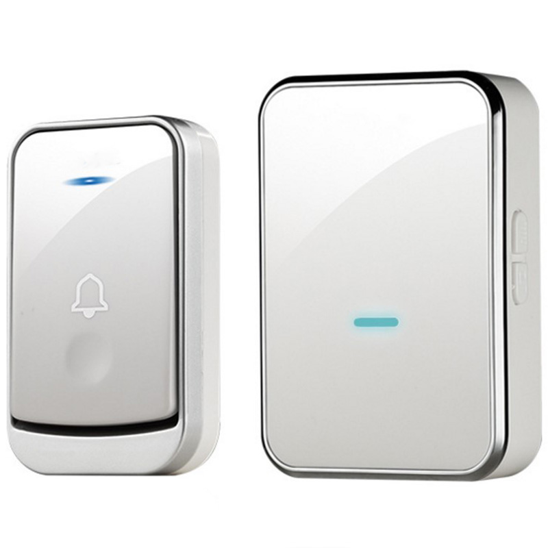 AMS-Eu Plug Wireless Doorbell System 45 Songs Doorbell Transmitter Chime Welcome Security Alarm System