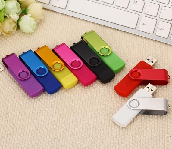 Multicolor High Speed OTG USB Flash Drive 64gb 128gb Pen Drive 8gb 16gb 32gb Pendrive Usb 2.0 For Smart Phone Micro USB Stick