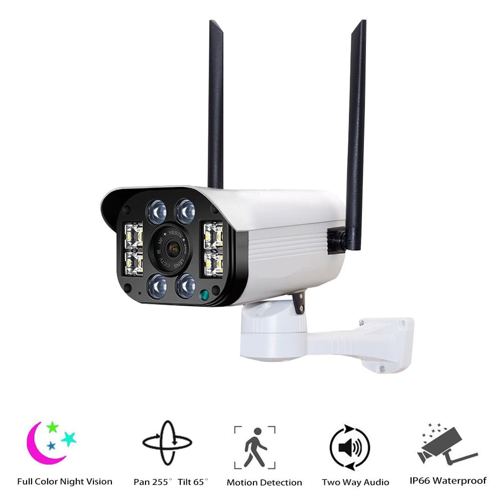 Full Color Night Vision Outdoor Weatherproof Home Surveillance Security IP Camera WiFi Camera Pan Tilt 1080P HD Bullet Camera