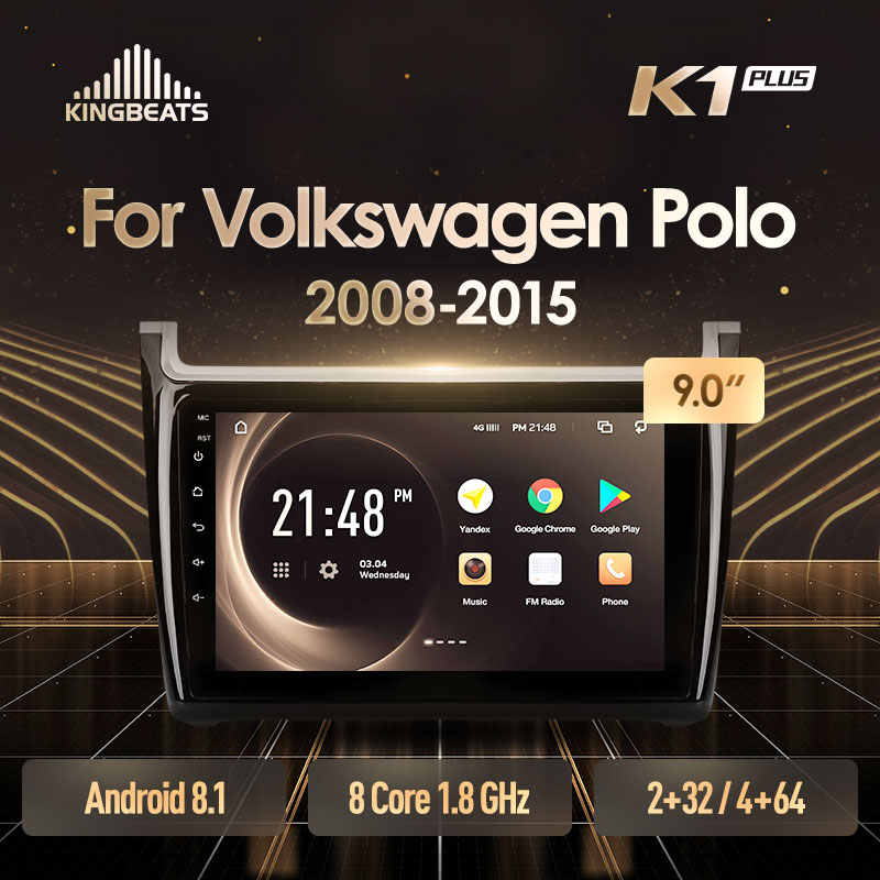KingBeats Android 8.1 Octa-Core head unit 4G in Dash Car Radio Multimedia Video Player Navigation GPS For Volkswagen POLO 2008