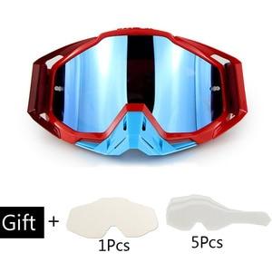 Image 4 - Motosiklet gözlüğü Off Road ATV motokros gözlük kir bisiklet Gafas yokuş aşağı Lunette Moto çapraz ülke motosiklet gözlük setleri