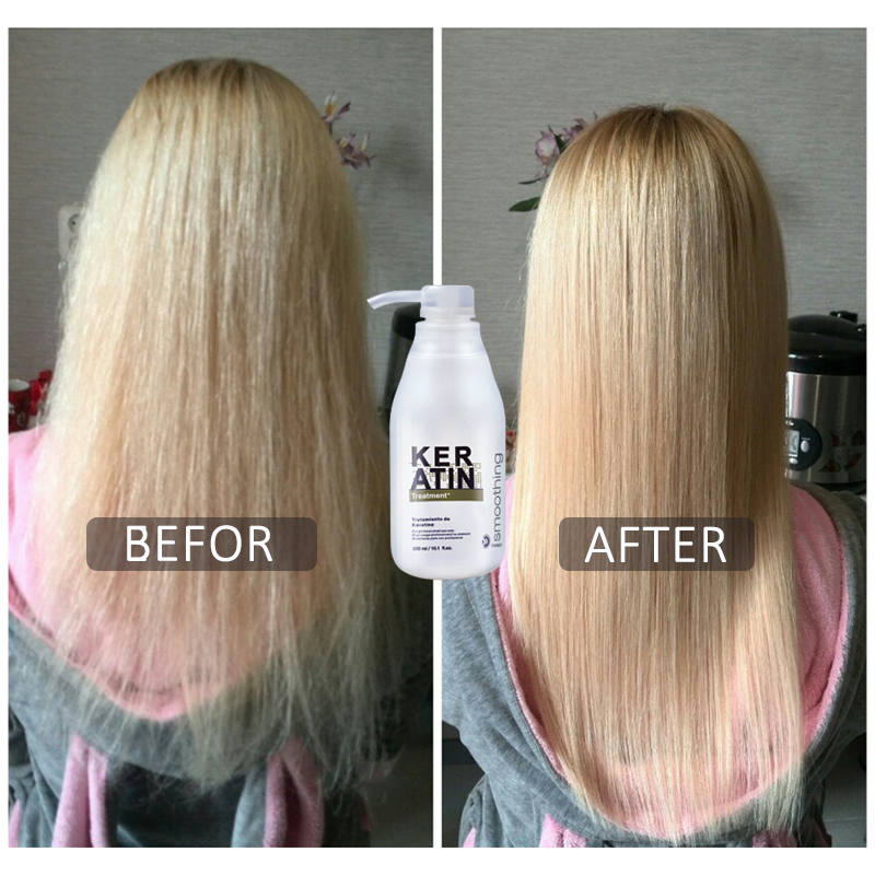 5% Keratin hair straightening hot sale hair care products 300ml keratin and 100ml purifying shampoo set free shipping