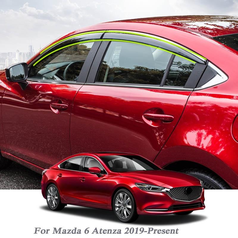 Mazda 6 Sedan Wind Rain Deflectors 4 pcs 2008-UP