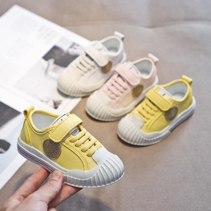 2019 New Brand Toddler Shoes Children White Shoes Fashion Kids Soft Bottom PU Leather Sport Running Sneakers For Baby