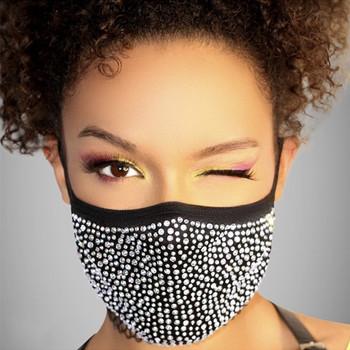 INS gorąca sprzedaż kryształ Masquerade maska biżuteria dla kobiet w stylu Vintage strona twarzy akcesoria Rhinestone Bling maska dekoracji maski tanie i dobre opinie Kobiety Brak TRENDY Face Mask Face Jewelry Face Accessories Mouth Mask Face Guard One Mask