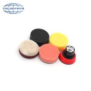 Image 3 - Kit de pulido de taladro, almohadillas de pulido de 2 pulgadas, 4 Uds. Incluyen bandeja roja M14, esponja para encerar detalles, pulidor de coche
