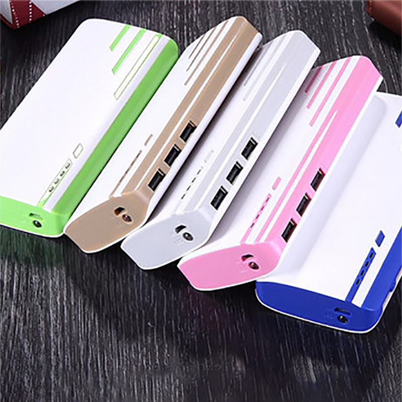Micro Input USB Power Bank Shell DIY Charging Box 3 Usb Output Case Mobile Phone Powerbank External Charger 5*18650 Battery