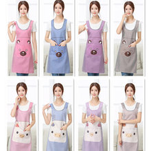 Kitchen Apron, Korean cooking, waterproof, oil-proof work clothes, lovely cooking, cartoon, sleeveless vest, Apron, waist. wq002 kitchen oil proof cloth apron black