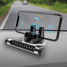 1Pcs=2 in 1 Vehicle-Mounted Multi-functional Temporary Stop Sign License Plate Rotary Mobile Phone R