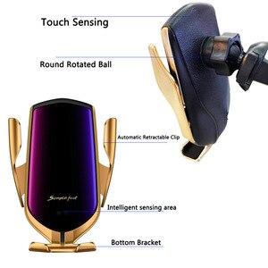 Image 5 - FLOVEME Auto Telefon Halter 2 IN 1 Drahtlose Ladegerät Automatische Induktive Telefon Auto Halter Für Samsung S8 S9 S10 Für iPhone 12PRO MAX