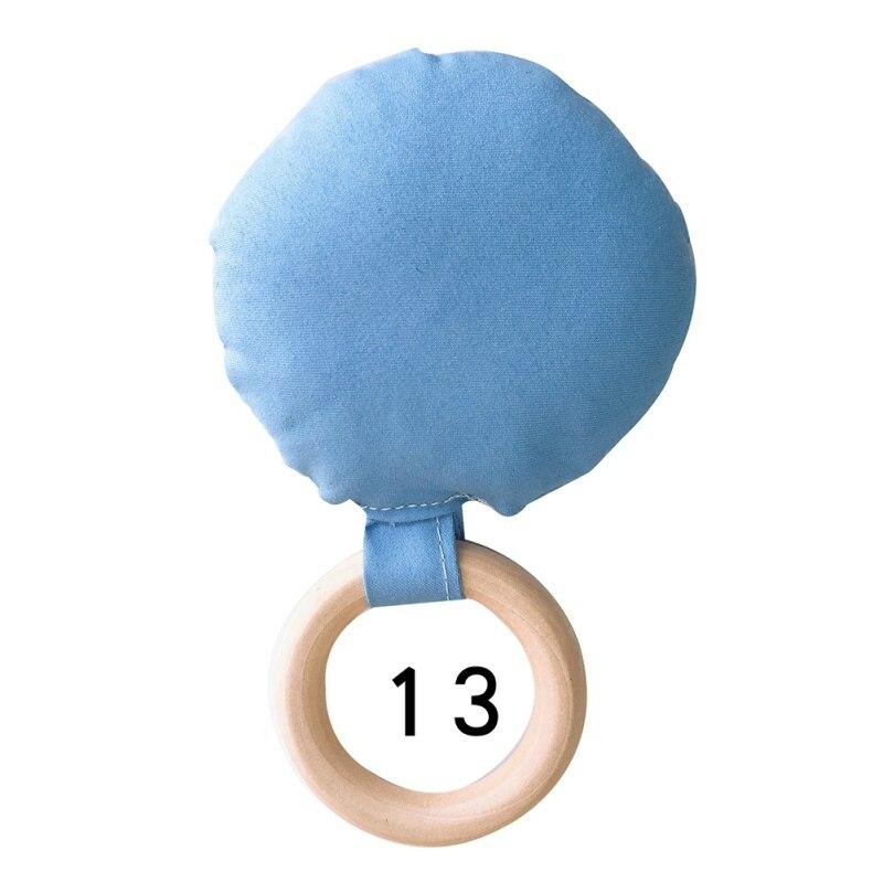 Портативный для новорожденных Детское Зубное кольцо жевательные Прорезыватель для зубов ручной безопасная, из дерева натуральное кольцо молочных зубах упражняющая игрушка в подарок - Цвет: M