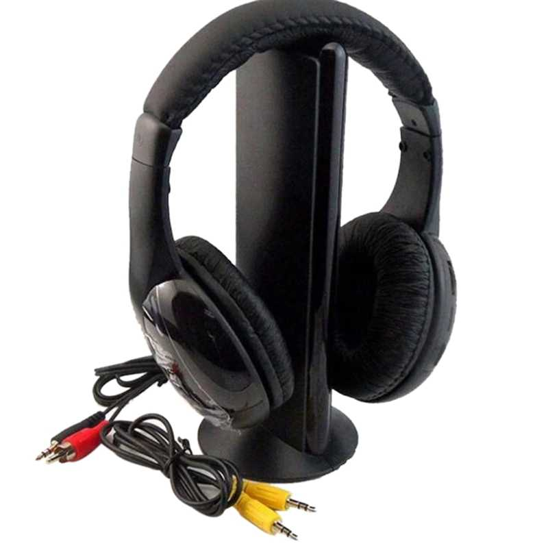 KUBITE MH2001 transmisor con auriculares inalámbricos, auriculares con Radio FM, auriculares inalámbricos de TV, auriculares con Monitor para TV, PC inteligente