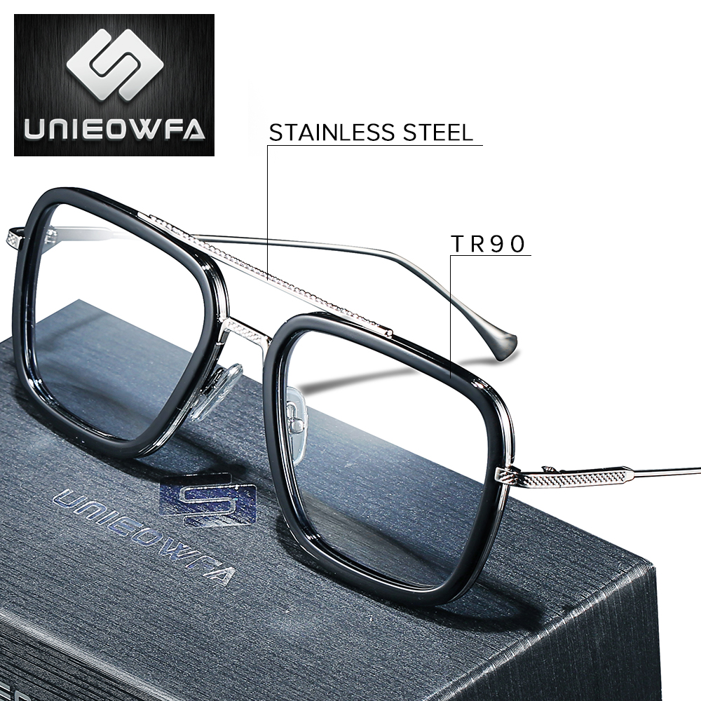High Quality Stainless Steel Prescription Glasses For Men Frame Clear Optical Eyeglasses Frame Transparent Myopia Spectacles