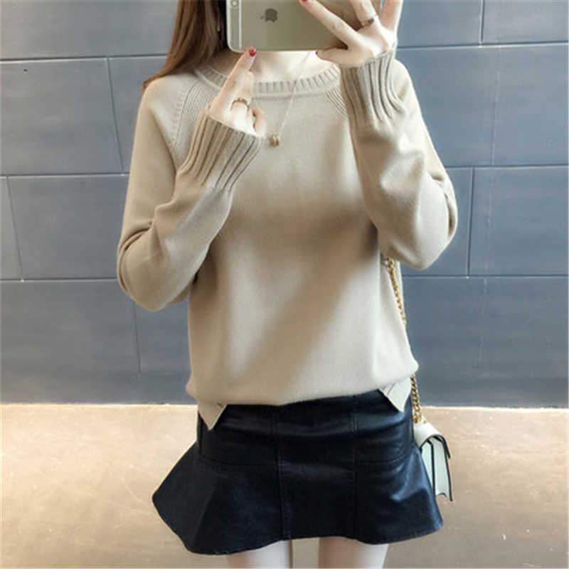 Sweater Wanita dan Pullovers Musim Gugur Fashion Lengan Panjang Sweater Gaya Elegan Kantor Wanita Pullover LWL523