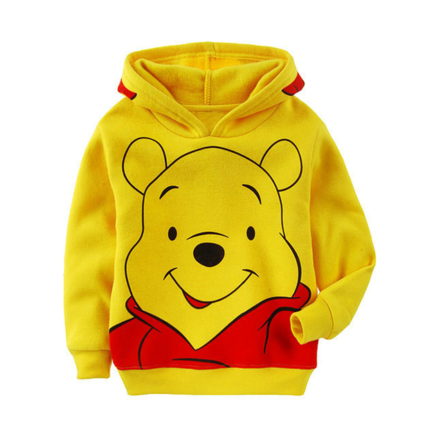 Edward Bear Vigny Winnie Boys Girls casual Sweatshirt Kids Hoodies Long Sleeve Sweatshirt Children Clothes 6