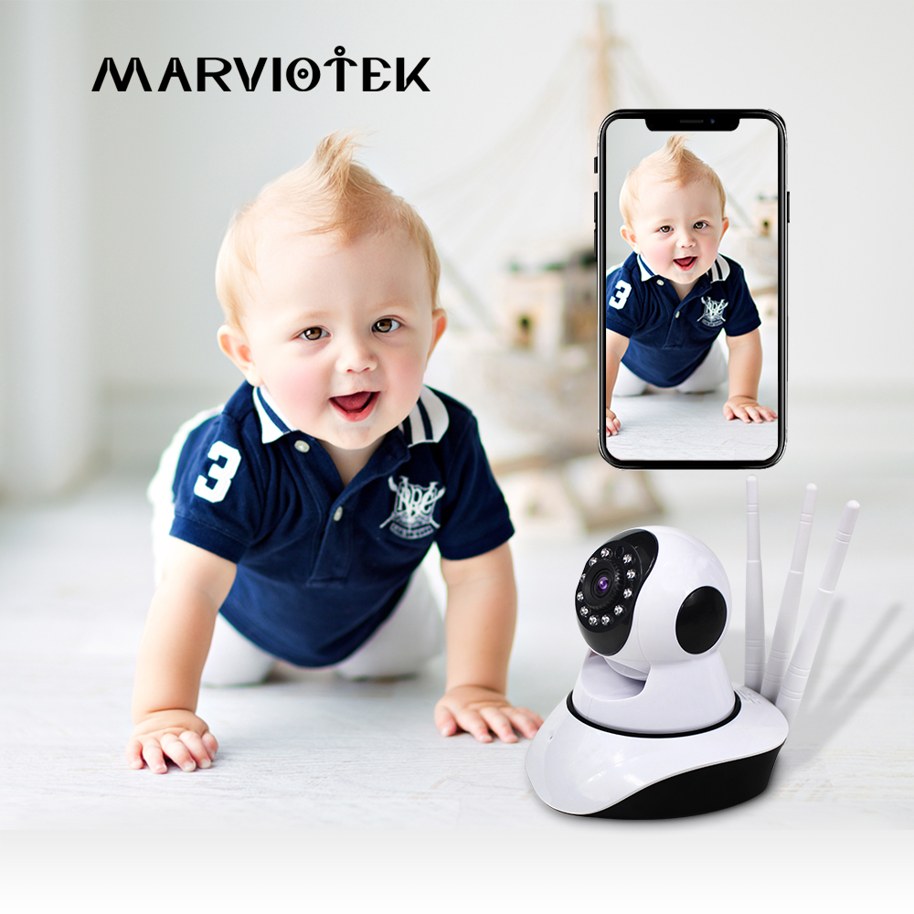 Wireless Baby Monitor Wifi IP Camera Wifi Home Security Radio Video Nanny Camera 1MP Baby Cameras Two Way Audio Night Vision P2p
