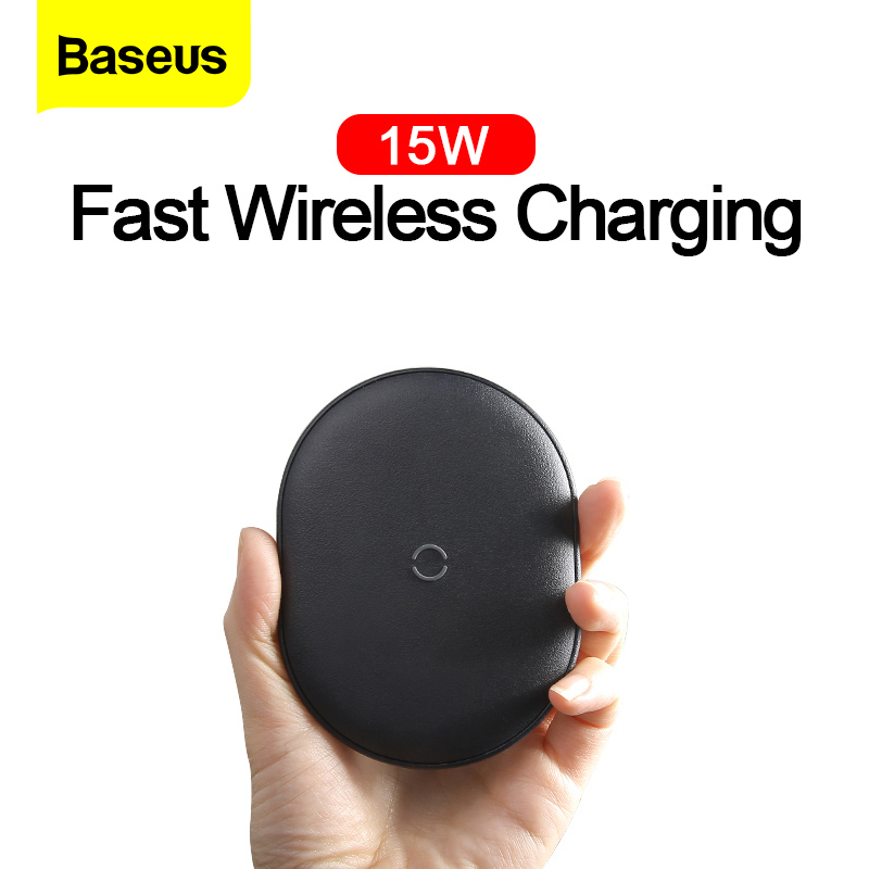 Baseus 15W Qi Wireless Charger For iPhone 11 Pro Max Airpods Fast Wireless Charging Induction Charger Pad For Samsung Xiaomi Mi|Wireless Chargers| |  - title=