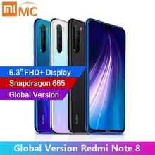 """Versão global xiaomi redmi nota 8 4gb ram celular 48mp quad câmeras 6.3 """"tela fhd snapdragon665 celular 4000mah"""