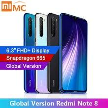 "Xiaomi smartphone Redmi Note 8, versión Global, 4GB de RAM, Quad cámara de 48MP, pantalla FHD de 6,3 "", Snapdragon 665, 4000mAh"
