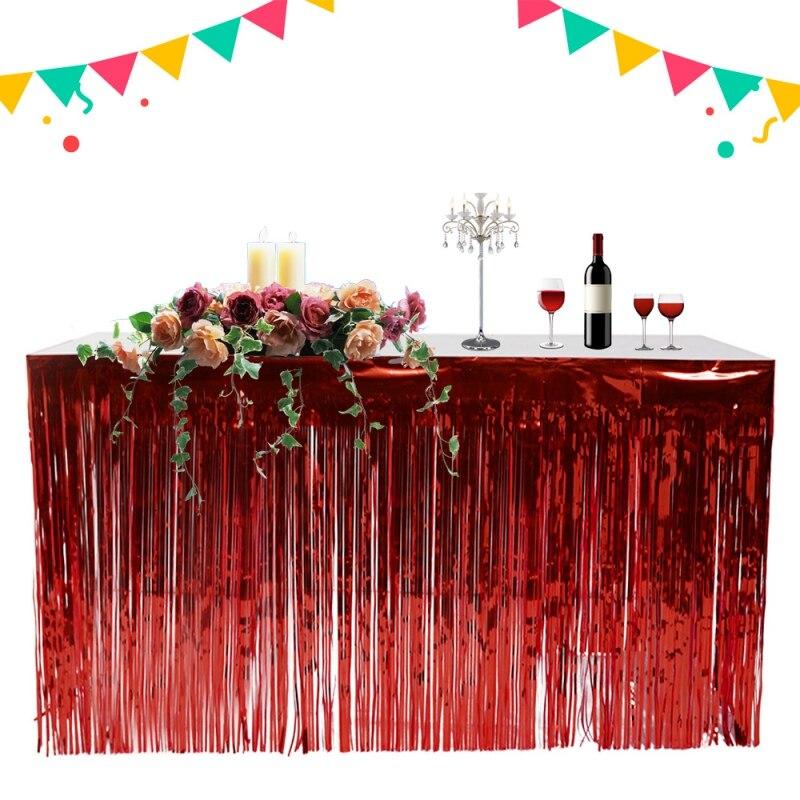 Rain Curtain Tassels Table Skirt Household Unique Table Skirt Festive Party Supplies