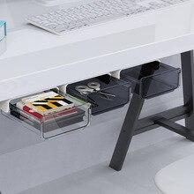 Paste Storage Box Drawer Type Hidden Pen Holder Cosmetic Case Office Dormitory Desktop Student Desk Stationery Storage Supplies