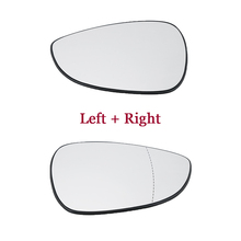 Left + Right Side Door Wing Mirror Glass Fits For Ford Fiesta Mk7 2008-2017