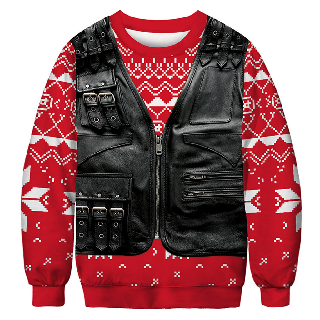 Hoodie Pullover Female Sweatshirt Women Christmas 3D Print Long Sleeves Wild O-Neck Pullover Sweatshirt Sudadera Mujer Moletom