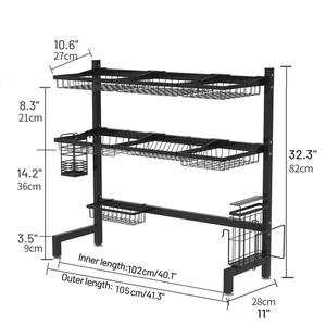 Shelf Rack Over-Sink-Storage Kitchen-Accessories Dish-Drying Stainless-Steel Holders