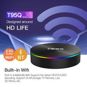 Image 3 - TV BOX T95Q, Android 9,0, 4K, dispositivo de TV inteligente, Android 2,4, 4GB de RAM, 32GB 64GB de ROM, Amlogic S905X3, wi fi 3,0 y 5G, Bluetooth 265, USB H.