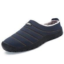 Christmas Winter Men Shoes New Cotton Shoe Fashion Warm Plush Slip On Casual Outdoor Flat Platform Psapato masculino
