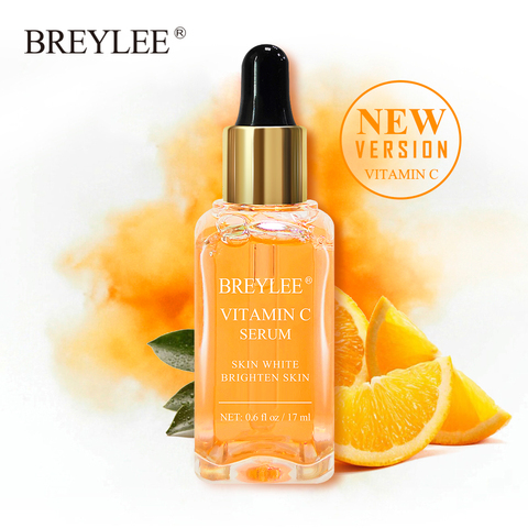 BREYLEE Face Serum Vitamin C Whitening Facial Serum Remove Melanin Dark Spots Freckle Removal Brightening Ageless Skin Care 17ml Pakistan