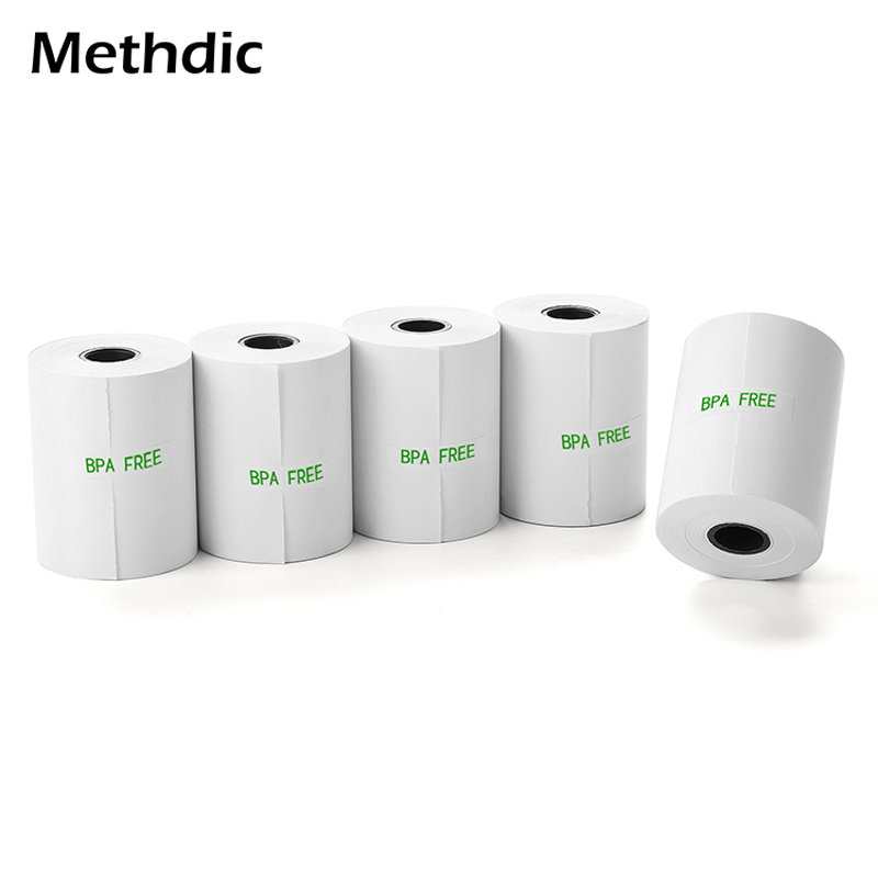 Methdic 5rolls/set  57x50mm Thermal Receipt Paper Rolls BPA/ BPS Free Thermal Paper