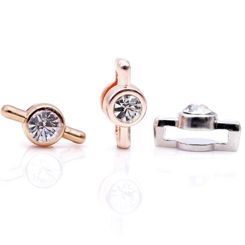 2 шт серебро розовое золото ракета Медведь Сердце Бусины Шарм Подходит 10 мм Нержавеющая сталь сетка браслет часы браслет в виде ремня из бисера - Цвет: GHJ00 (32)