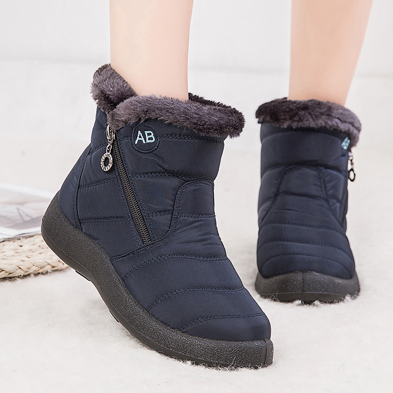 Women Boots Waterproof Winter Boots Women Low Heels Snow Boots For Quilted Winter Shoes Women Warm Ankle Botas Mujer Bottines