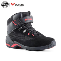 DUHAN Motorcycle Boots Summer Mesh Moto Boots Men Road Street Black Casual Shoes Breathable Moto Protective Gear