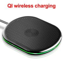 Fast Wireless Charger 10W Qi for Samsung S9 S10+ Note 9 8 Mirror Wireless Charging Pad 7.5W for iPhone X/XS Max XR 8 Plus