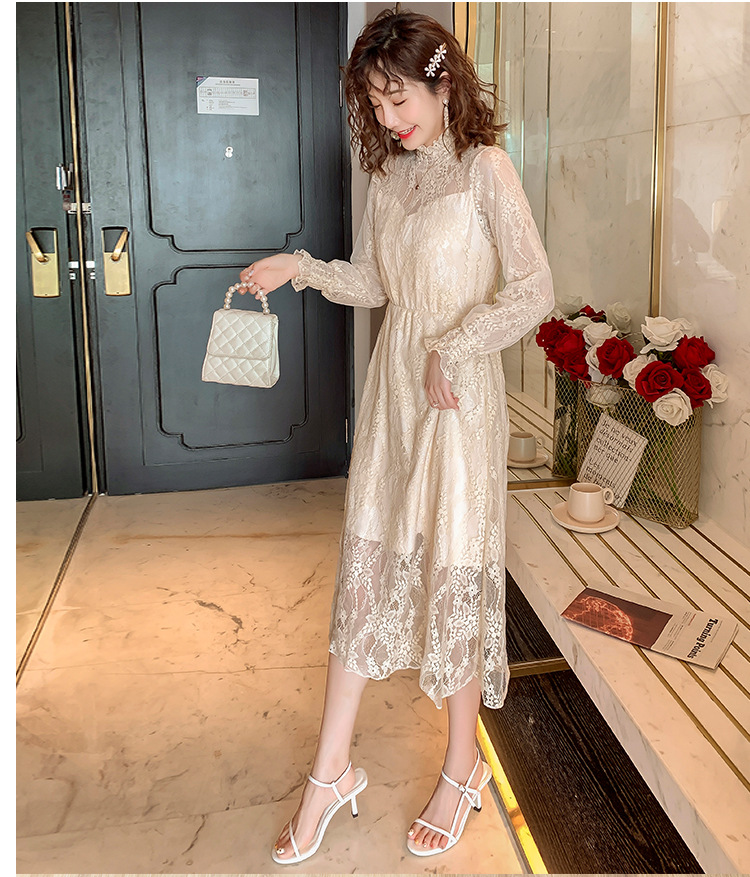 2020 Maternity clothing summer twinset lace maternity one-piece dress white embroidery maternity dress For Pregnant (15)