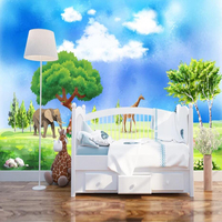 Drop Shipping Custom 3D Wallpaper Mural Living Room Bedroom Children's Room Rainforest Bedroom Wall Decoration Wallpaper
