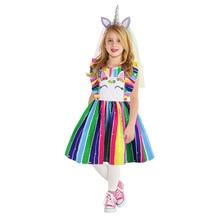 цена на 2020 Summer Kids Girl Dress Girl's Flounce Flying Sleeve Dress Lovely Puffy Princess Princess Costume  Christmas Clothes