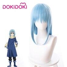 DokiDoki Anime Cosplay Wig That Time I Got Reincarnated as a Slime Rimuru Tempest Hair Women Short Blue