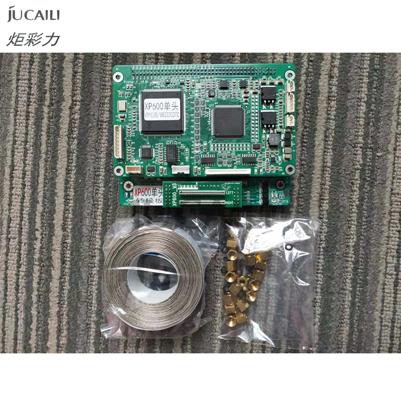 Jucaili Head Board Kit For Epson Xp600 Single Head Carriage Board With Long Data Cable And Connector For Eco Solvent Printer