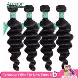 Aircabin Hair Loose Deep Wave Bundles Peruvian Hair Bundles Remy Human Hair Extensions Natural Color More Wave Fast Shipping