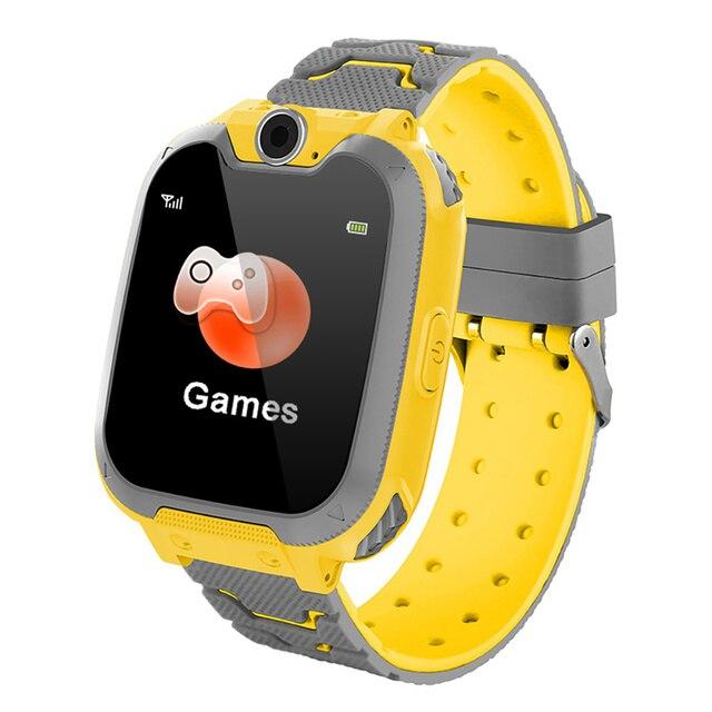 S10 키즈 스마트 시계 전화 다이얼 터치 스크린 카메라 게임 음악 재생 시계 SOS Smartwatch 설정 언어 Relogio Watch