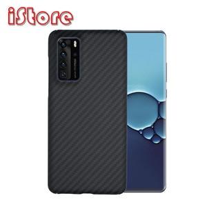 Image 1 - Sợi Carbon Ốp Lưng Điện Thoại Huawei P40pro Huawei P40 Mỏng Và Nhẹ Thuộc Tính Aramid Chất Liệu Sợi Ốp Lưng